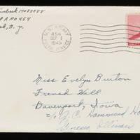 1945-08-31 Carroll Steinbeck to Evelyn Burton - Envelope