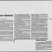 "1975-08-26 Daily Iowan Article: ""Afro Center"""