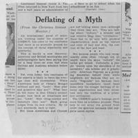 "1950-08-08 Des Moines Register Article: ""Deflating A Myth"""