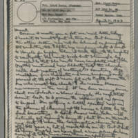 1943-04-11 Laura Davis to Lloyd Davis Page 1