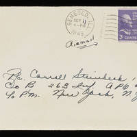1945-09-10 Evelyn Burton to Carroll Steinbeck - Envelope