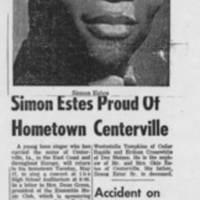 """""simon Estes Proud Of Hometown Centerville"""""