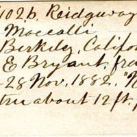 Clinton Mellen Jones, egg card # 879
