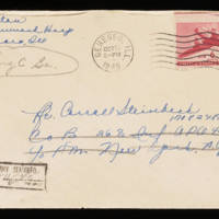 1945-10-14 Evelyn Burton to Carroll Steinbeck - Envelope