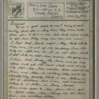 1943-07-09 Lloyd Davis to Laura Davis Page 1