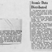 """""Atomic Data Distributed"""""