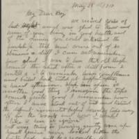 1917-05-28 Conger Reynolds to Mr. John Reynolds Page 1