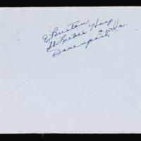 1946-02-11 Evelyn Burton to Carroll Steinbeck - Envelope back