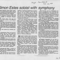 """1984-02-26 """"""""Simon Estes soloist with symphony"""""""" Page 1"""