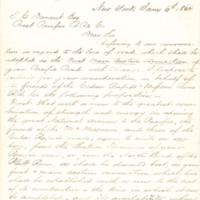 Cedar Rapids and Missouri River Railroad correspondence regarding connection with the Union Pacific Railroad, 1864-1865