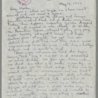 1944-05-16 Helen Angell to Mrs. Bess Peebles Page 1