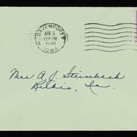 1946-04-04 Evelyn Burton to Vera Steinbeck - Envelope