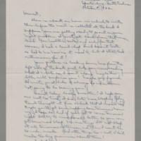 1942-10-08 Laura Davis to Lloyd Davis Page 1