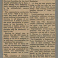 1966-09-19 Article: 'SDS Members Discuss Issues' Page 1