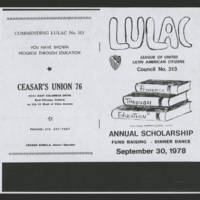 1978-09-30 LULAC Council #313 Annual Scholarship Dinner (John Terronez welcome address) Page 1