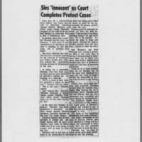 "1971-03-23 Iowa City Press-Citizen: """"Sies 'Innocent' as Court Completes Protest Cases"""""