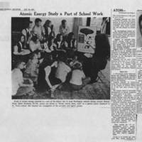 1947-10-26 Des Moines Register Article: Atomic Energy Study a Part of School Week""""