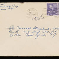1945-09-23 Evelyn Burton to Carroll Steinbeck - Envelope