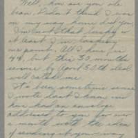 1946-02-18 Sgt. Bill Arnold to Dave Elder Page 1