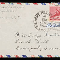 1945-12-16 Carroll Steinbeck to Evelyn Burton - Envelope