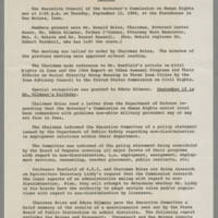 1964-09-15 Minutes - Executive Council of the Governor;s Commission on Human Rights Page 1