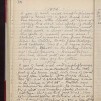 "Page 78 Written by Mahaska """"Hattie"""" Byington Whetstone from I.B. Reed notebook entry"