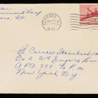 1945-11-22 Evelyn Burton to Carroll Steinbeck - Envelope