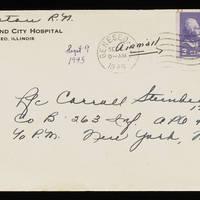 1945-09-09 Evelyn Burton to Carroll Steinbeck - Envelope