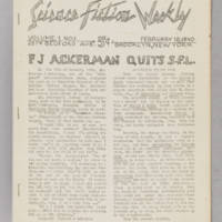 Science Fiction Weekly, v. 1, issue 1, February 18, 1940