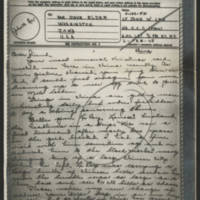 1945-02-06 Lt. John W. Lee to Dave Elder