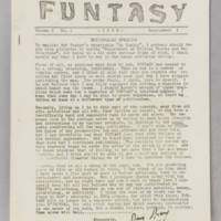 Funtasy, v. 1, issue 1, Supplement 1, 1939