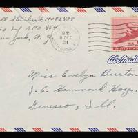 1945-10-06 Carroll Steinbeck to Evelyn Burton - Envelope