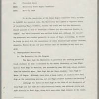 1968-11-15 University Human Rights Committee to President Howard Bowen Page 1