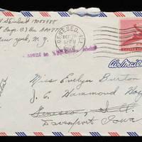 1945-12-05 Carroll Steinbeck to Evelyn Burton - Envelope