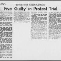 "1971-05-18 Daily Iowan Article: """"Five 'Guilty' in Protest Trial"""""