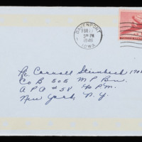 1946-02-14 Evelyn Burton to Carroll Steinbeck - Envelope
