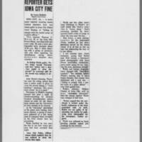 "1971-05-18 Des Moines Register Article: """"Reporter Gets Iowa City Fine"""""