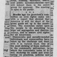 "1950-01-10 Burlington Hawkeye Gazette Article: ""Survey Group Meets Tonight"""