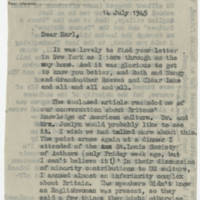 1945-07-14 Joan to W. Earl Hall Page 1
