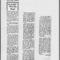 "1971-05-18 Des Moines Register Article: """"'We're Not Sheep'"""""""""