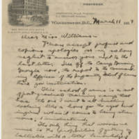 1919-03-11 Robert M. Browning to Dr. Mabel C. Williams Page 1