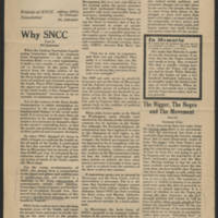 "1965-03-15 ""NOW! Friends of SNCC Newsletter"" Page 1"