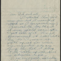 1918-06-10 Thomas Messenger to Mrs. Ress Wade Page 1