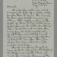 1943-05-16 Laura Davis to Lloyd Davis Page 1