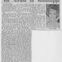 "1964-07-09 Article: """"Not Afraid in Mississippi"""""