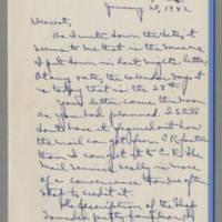 1942-01-28 Laura Davis to Lloyd Davis Page 1