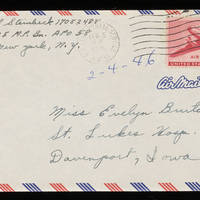 1946-02-04 Carroll Steinbeck to Evelyn Burton - Envelope