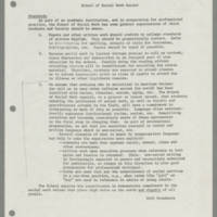1979-09-04 School of Social Work Record: Standards