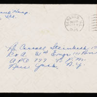 1945-10-28 Evelyn Burton to Carroll Steinbeck - Envelope
