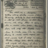 1943-08-02 Lloyd Davis to Laura Davis Page 1